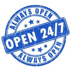 Open 24 vector stamp