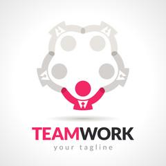 Vector Business Teamwork Leadership Concept