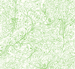 Seamless pattern spring branches.