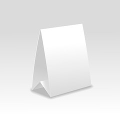 Blank paper table cards vector.