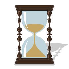 Vector hourglass.
