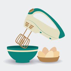 Kitchen design, vector illustration.