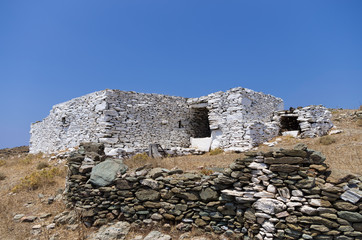 Old and traditional drystone building in Kythnos island, Greece