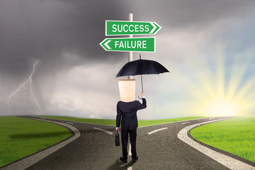 Worker with options to success or failure