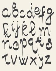 handwritten font, hand drawn sketch alphabet