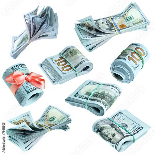 Bundles of US dollars