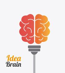 Brain design, vector illustration.