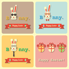 Easter rabbits and eggs
