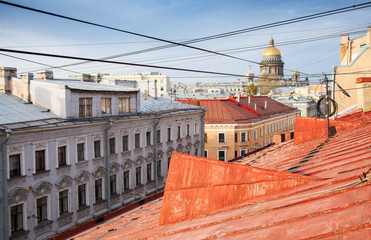 St. Petersburg, Russia. Old cityscape panorama