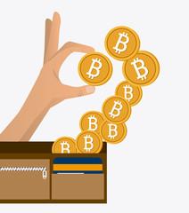 Bitcoin design, vector illustration.