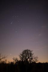 Nacht mit Sternen und Horizont