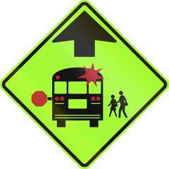 School Bus Stop Ahead