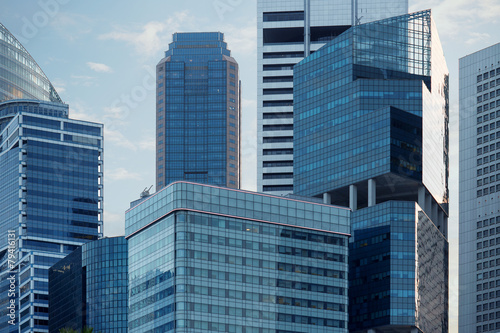 Fotobehang Singapore skyscrapers