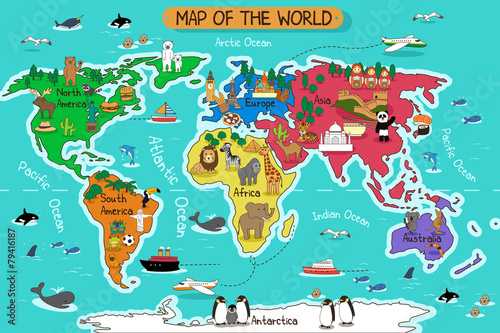 Map of the world - 79416187