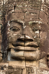 close up of buddha face