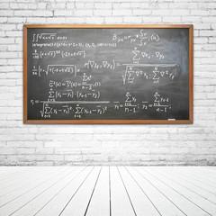 drawing formula on desk