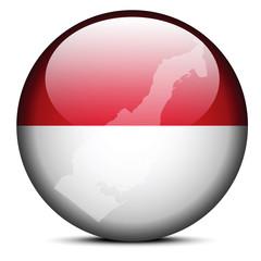 Map on flag button of Principality  Monaco