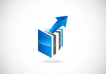 file data upload vector logo