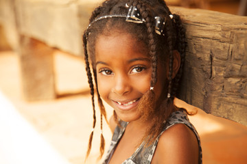 African american girl portrait