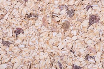 Closeup of a pile of muesli