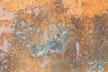 Colors and Surface Texture of Rusty Metal