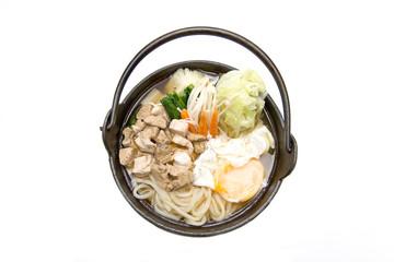 kurobuta udon with egg japanese food