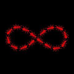 Infinite ants vector art