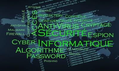 nuage de mots sécurité informatique