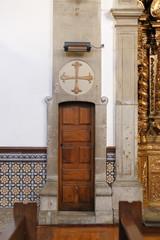 Church interior lateral door