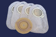 Leinwanddruck Bild - Accessory bag and disc for colostomy