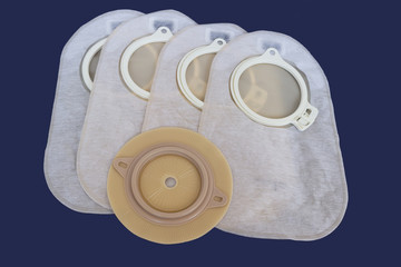 Accessory bag and disc for colostomy
