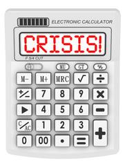Кризис! (Crisis!)  Надпись на электронном калькуляторе