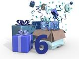 Cadeaus in blauwe tinten voor de zesde