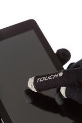 Specific gloves for touch devices