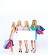 Attractive ladies during the seasonal sale