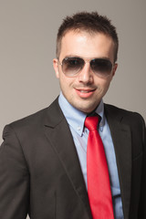 Portrait of young business wearing sunglasses