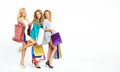 Three fabulous women enjoying sales