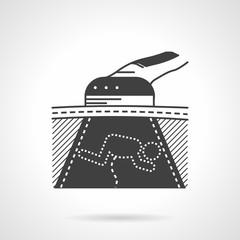 Black vector icon for womb sonogram