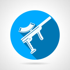 Blue flat vector icon for paintball marker