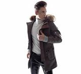 Smart young guy wearing trendy jaket