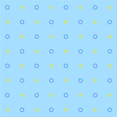 Seamless patterns circles on a blue background