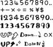 ペン書きの数字