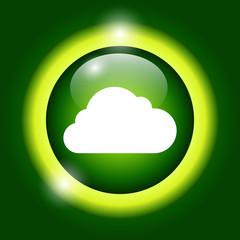 cloud icon, vector illustration.