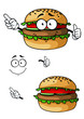 Cartoon hamburger character