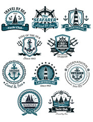 Marine emblems and banners