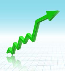 green graph arrow