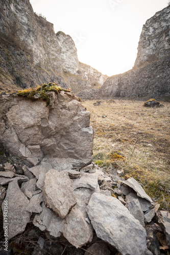 Tuinposter Canyon old stone pit in Germany
