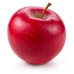 Fresh red apple isolated on white.
