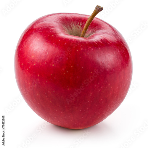 Deurstickers Vruchten Fresh red apple isolated on white.