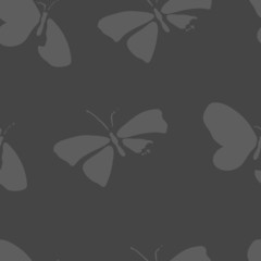 Seamless pattern with dead butterflies